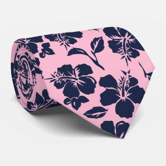 Vintage Pareau Hawaiian Hibiscus Two-sidedPrinted Neck Tie