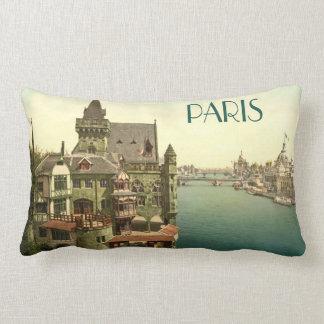 Vintage Paris 1900's Lumbar Pillow