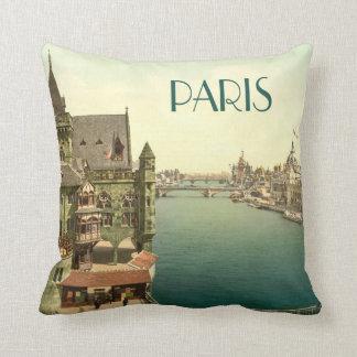 Vintage Paris 1900's Throw Pillow