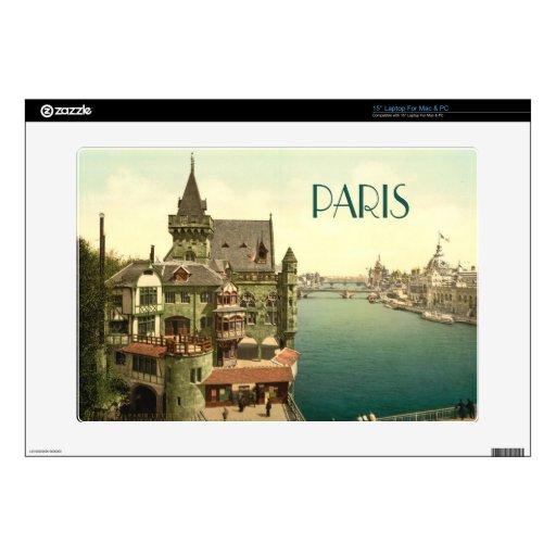 Vintage París 1900's Skins Para 38,1cm Portátiles