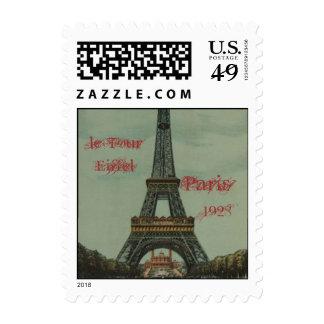 Vintage Paris, 1928, le Tour Eiffel Postage Stamps