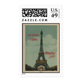 Vintage Paris, 1928, le Tour Eiffel Postage