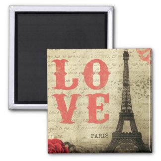 Vintage Paris 2 Inch Square Magnet
