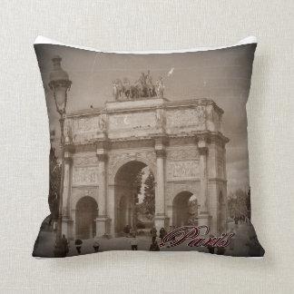Vintage Paris: Arc de Triomphe Throw Pillow