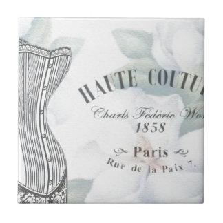 Vintage París Azulejo Cuadrado Pequeño