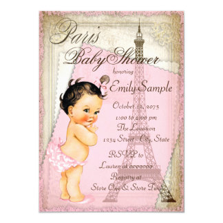 Vintage Paris Baby Shower Card