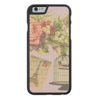 Vintage Paris- Birdcage Carved Maple iPhone 6 Slim Case