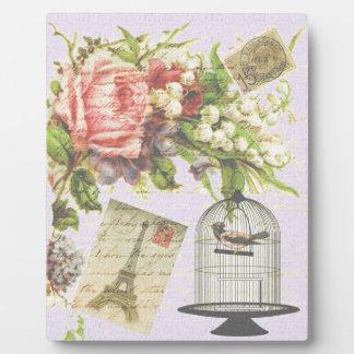 Vintage Paris- Birdcage Photo Plaques