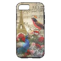 Vintage Paris & birds music sheet collage iPhone 7 Case