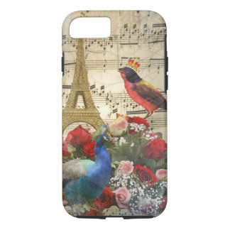 Vintage Paris & birds music sheet collage iPhone 7 Case