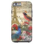 Vintage Paris & birds music sheet collage iPhone 6 Case