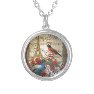 Vintage Paris birds music sheet collage Jewelry