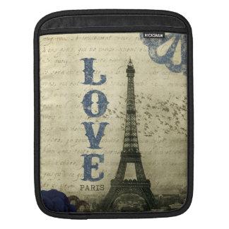 Vintage Paris | Blue iPad Sleeves