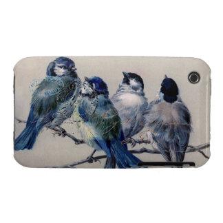 Vintage Paris Bluebirds iPhone 3 Case-Mate Cases