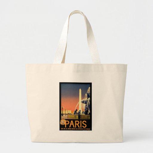 Vintage París Bolsa Lienzo