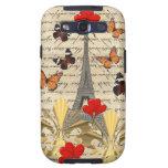 Vintage Paris & butterflies Galaxy SIII Case