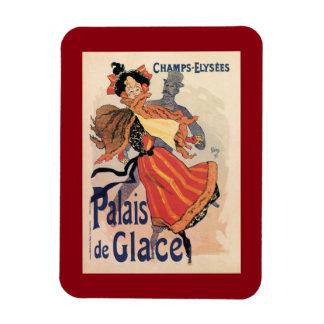 Vintage Paris Champs Elysées ice skating Magnet