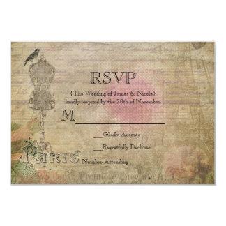 Vintage Paris Chic Birthday Party Wedding RSVP Card