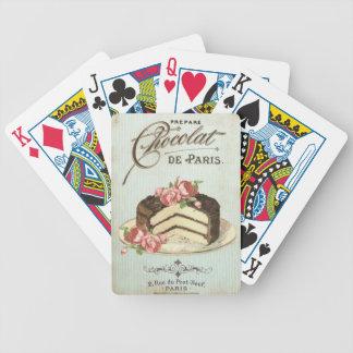 Vintage Paris Chocolate Cake Bicycle Playing Cards