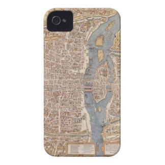 Vintage Paris city map, 1550 iPhone 4 Cases