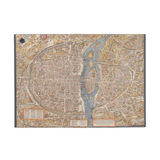 Vintage Paris city map, 1550 Cases For iPad Mini