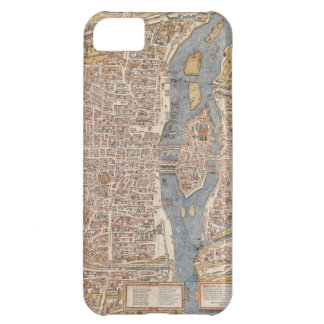 Vintage Paris city map, 1550 iPhone 5C Covers