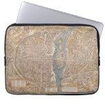 Vintage Paris city map, 1550 Laptop Computer Sleeve