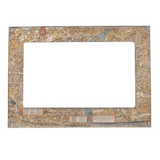 Vintage Paris city map, 1550 Magnetic Frame
