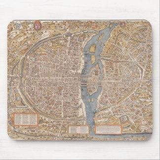 Vintage Paris city map, 1550 Mousepads