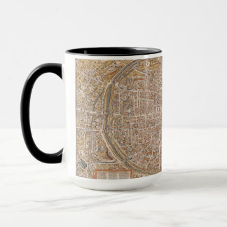 Vintage Paris city map, 1550 Mug