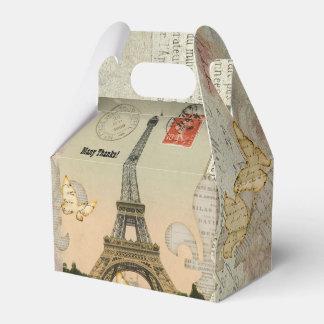Vintage Paris Collage Eiffel Tower Personalized Favor Box
