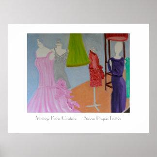 Vintage Paris Couture Poster