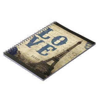 Vintage París Spiral Notebook