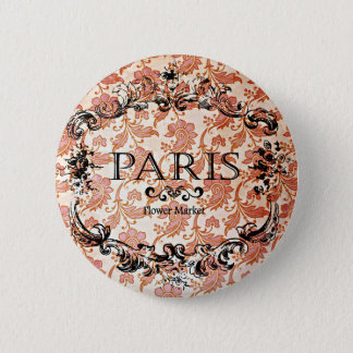 Vintage Paris Damask Pinback Button