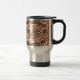 Vintage Paris Damask Travel Mug