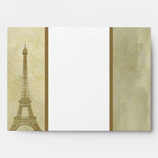 vintage París de la opción 3 del sobre 5x7