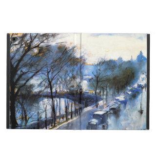 Vintage: París, día lluvioso en el Quai Voltaire