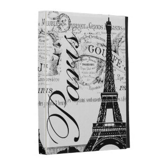 "Vintage Paris ""Eiffel Tower"" Apothecary Design iPad Cases"