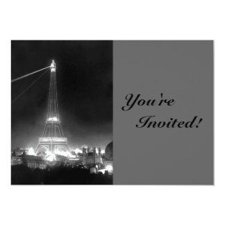Vintage Paris Eiffel Tower Card