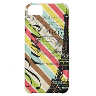 Vintage Paris & Eiffel Tower Case For iPhone 5C