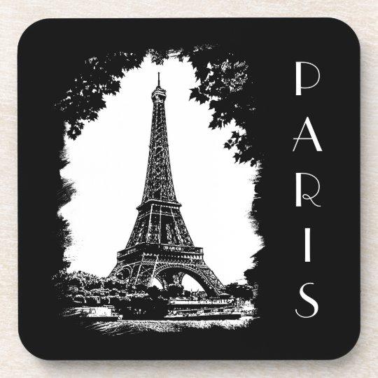 Vintage Paris Eiffel Tower coasters