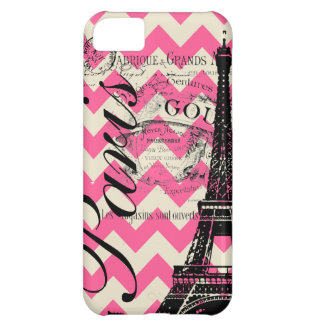 Vintage Paris & Eiffel Tower Cover For iPhone 5C
