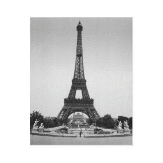 Vintage Paris Eiffel Tower, Expo 1900 canvas print