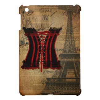 vintage paris eiffel tower girly corset iPad mini cover