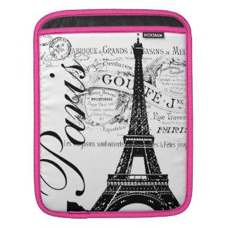 Vintage Paris Eiffel Tower iPad Sleeve