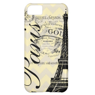 Vintage Paris & Eiffel Tower iPhone 5C Case