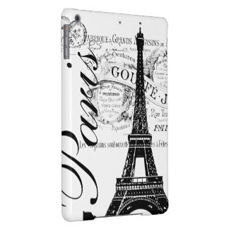 Vintage Paris & Eiffel Tower Label iPad Air Cases