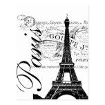 Vintage Paris & Eiffel Tower Label Post Cards