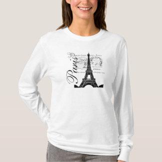 Vintage Paris & Eiffel Tower Label T-Shirt