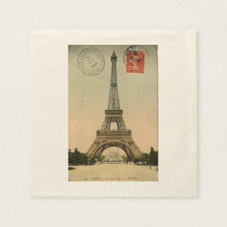 Vintage Paris Eiffel Tower Paper Napkin